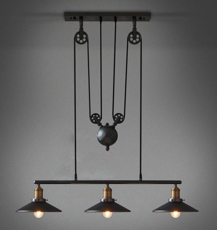 Keukenlamp Design : Industrial Pulley Pendant Light