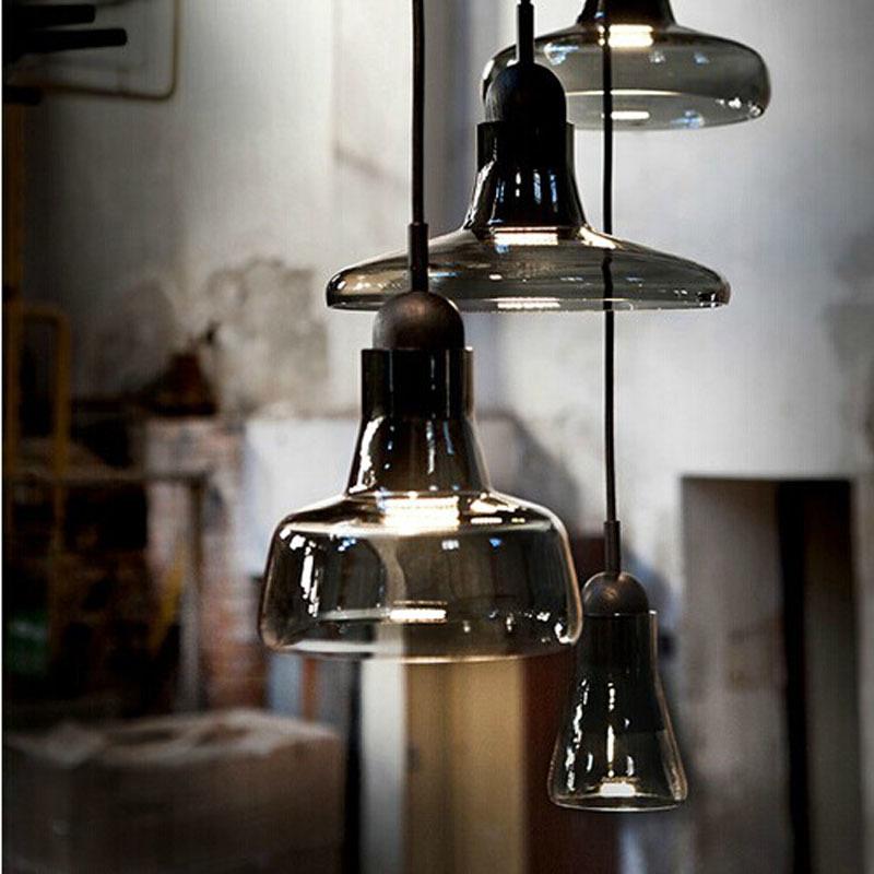 Wood Mini Pendant ~ Modern brokis shadows wood mini glass pendant light for