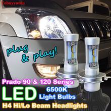 Buy High Power H4 LED Headlight Bulbs 9003 HB2 160W 16000LM White High/Low Beam Bulbs Toyota Prado 90 120 Series Landcruiser for $65.60 in AliExpress store