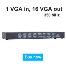 MT-VIKI 35016 16 Port VGA Distributor Splitter 350MHz 1 input 16 output 1 pc computer 16 widescreen monitors projectors MT-35016