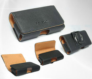 Holster Belt Clip Black Leather Case for NOKIA e71 e72 e55 e52 E63 Used in mountain climbing&bicycle riding&outdoor activities(China (Mainland))