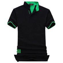 Новая Мода Марка Мужчины Polo Рубашка Твердые V-образным Вырезом С Коротким Рукавом Slim Fit рубашка Мужчины Хлопок Polo Рубашки Повседневные Рубашки Плюс Размер 6XL 7XL(China (Mainland))
