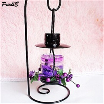 Romantic Iron candle aingle hanging candle Iron candle crafts antique silver crystal candlestick holder(China (Mainland))