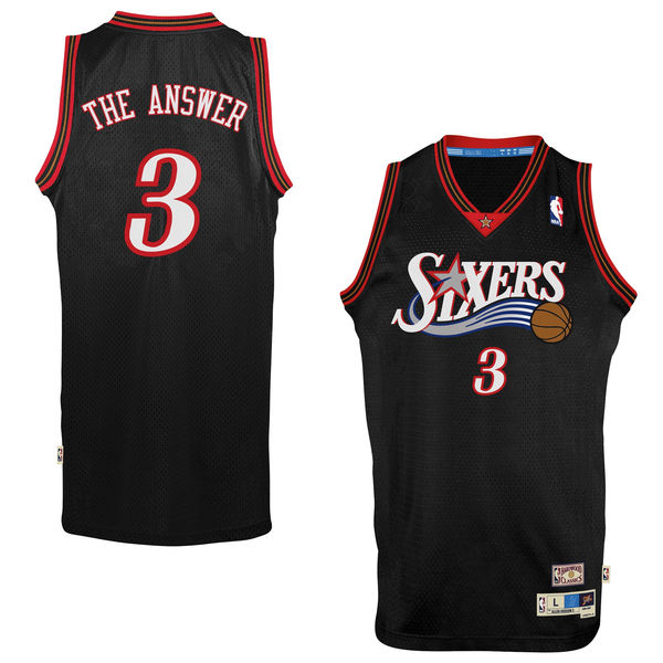 #3 Mens Allen Iverson NBA Black Jersey NBA Philadelphia Basketball Jerseys(China (Mainland))