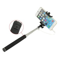 3.5mm Handheld Wired Remote Selfie Stick Monopod Extendable pole suporte celular selfie For Samsung s4 s5 iphone 6 5s Cell Phone