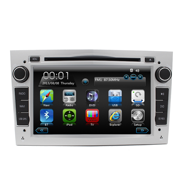 Free Shipping 7' Touch Screen Car Auto radio DVD GPS Navigation system for Opel Corsa Astra Zafira Vectra Meriva in Sliver Color(China (Mainland))