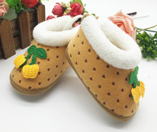 Quality Guarantee Toddler Kids Baby Warm Snow Boots Soft Bottom Crib Shoes Winter Baby Shoes Gifts 12(China (Mainland))