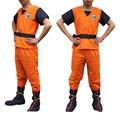 2017 fashion DRAGON BALL Z Son Goku Adult Cosplay Costume Unisex Super Saiyan Uniform set Tops