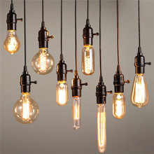 Vintage Bulbs E27 E14 Incandescent Bulb ST64 G80 Filament Bulb Squirrel-cage Carbon Bulb Retro Edison Light For Pendant Lamp(China (Mainland))