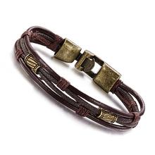 Retro Jewelry wholesale new jewelry male bracelet fashion leather bracelet wave of people Bracelets for men(China (Mainland))