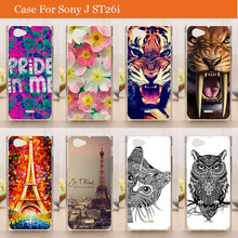 Buy Fashion hard diy Painting owl tiger rose flowers eiffel towers design hard pc Case Sony Xperia J ST26i cover for $1.39 in AliExpress store
