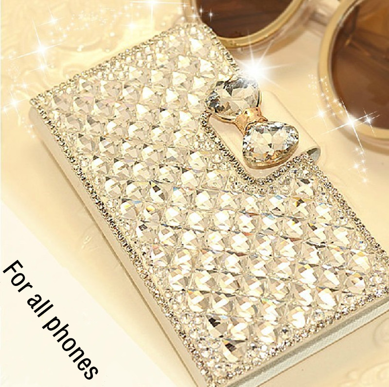 1PCS New Luxury Bling Crystal Rhinestone Diamond Wallet Flip Leather Case Cover For Blackberry Leap Original Mobile Phone Bag(China (Mainland))