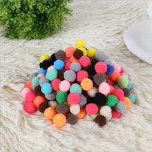 Buy 100pcs Size 8-10mm Multi Colors Pompoms Fur Craft DIY Soft Pom Poms Wedding Decoration/Sewing Cloth Accessories Free for $1.56 in AliExpress store