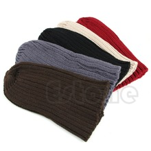 Hot Men Stylish Hip-Hop Warm Winter Wool Knit Ski Unisex Beanie Skull Cap Hat Free Shipping