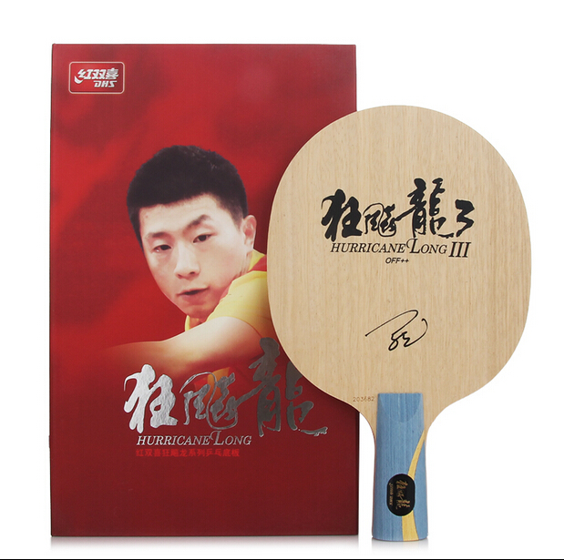 Free shipping Malong Original NEW DHS Hurricane Long 3 professional table tennis blade the world champion Mr. Ma Long rackets(China (Mainland))