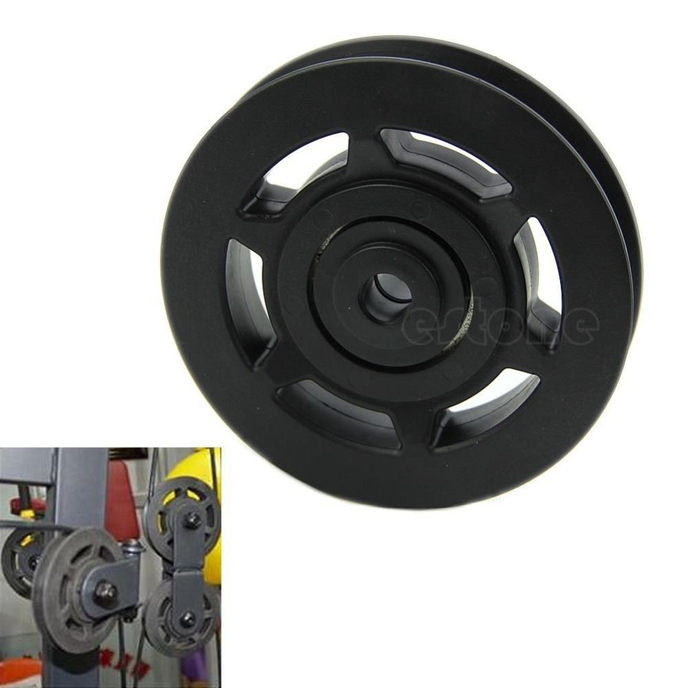 Durable Wearproof 95mm Universal Bearing Pulley Wheel Cable Gym Equipment Part(China (Mainland))
