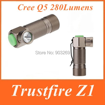 TrustFire Z1 Flashlight 280 LM 3-Mode Cree Q5 LED Aluminium alloy Torch Waterproof Mini Camping Hiking Flashlight
