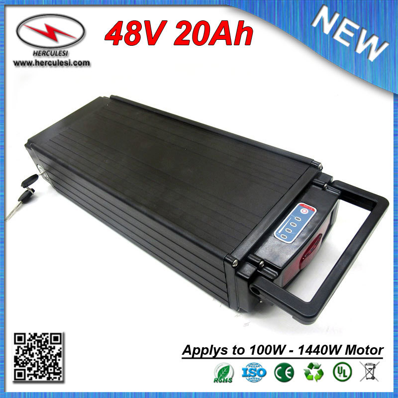 Free Shpping High Safety Electric Bike Battery 48v 20ah