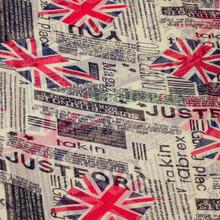 Newspaper UK Union Jack Print Long Scarf Infinity 2 Loop Cowl Scarf