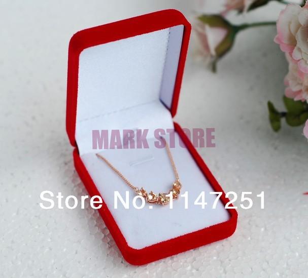 Здесь можно купить  Wholesale  Velvet Jewelry Gift Box , Red 8x6x3cm Velvet Jewelry Necklace Pendant Gift Box Display Packaging Case Free Shipping  Ювелирные изделия и часы
