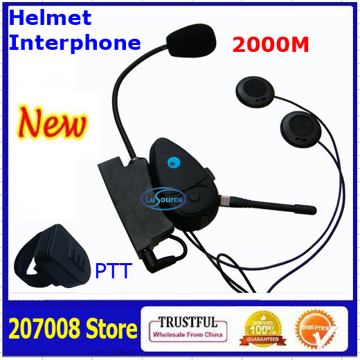 New Styles Motorcycle Bicycle Helmet Interphones 2000meters interphone Helmet Headset with Wireless PTT Button(China (Mainland))