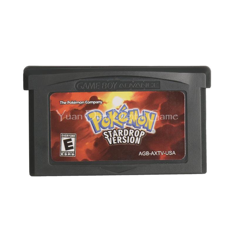 Nintendo GBA Video Game Cartridge Console Card Pokemon Series Star Drop English Language Version