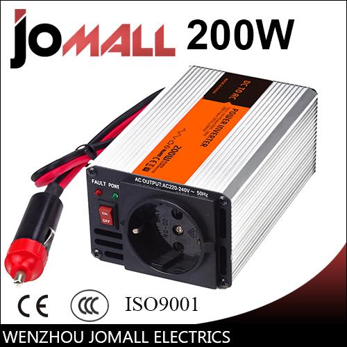 200W modified sine wave 12/24V DC to 110/220V AC Portable Car power inverter(China (Mainland))