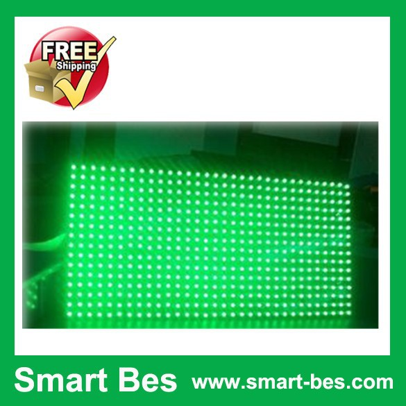 Smart Bes!DHL !1/Lot-outdoor P10-1R 16*32pixels Green LED Display Unit Module - Shenzhen S-Mart Electronics Co., Ltd~ 24hour fast shipping~ store