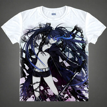 Black Rock Shooter T-shirts kawaii Japanese Anime t-shirt Manga Shirt Cute Cartoon Mato Kuroi Cosplay shirts 37166799598 tee 330