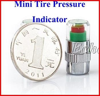 High Quality 2.4 bar 2.2 bar Tire Pressure Sensor Monitor Pressure Indicator Valve Stem Cap Sensor Eye Alert 3 Color
