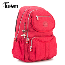 Buy TEGAOTE 2017 School Backpack Teenage Girls Nylon Mochila Feminine Backpack Women Solid Famous Casual Female Laptop Bagpack for $18.15 in AliExpress store
