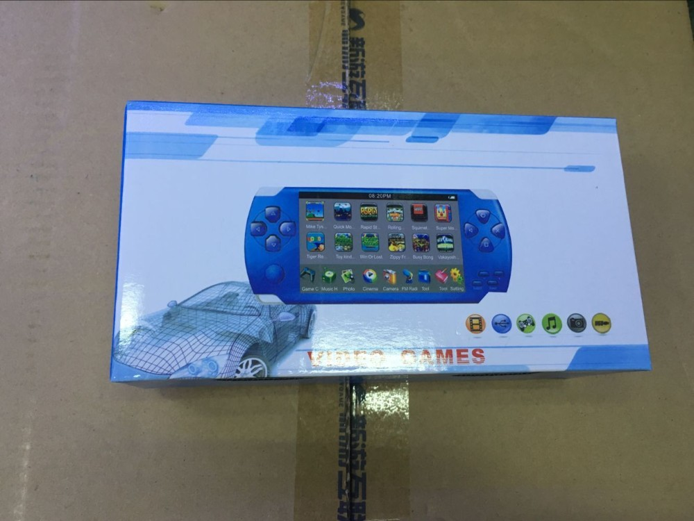 4.3 inch screen handheld game MP4 MP5 Player Games Console 8GB memory 4000 free games support ebook/TV-out/video1.3 MP Camera
