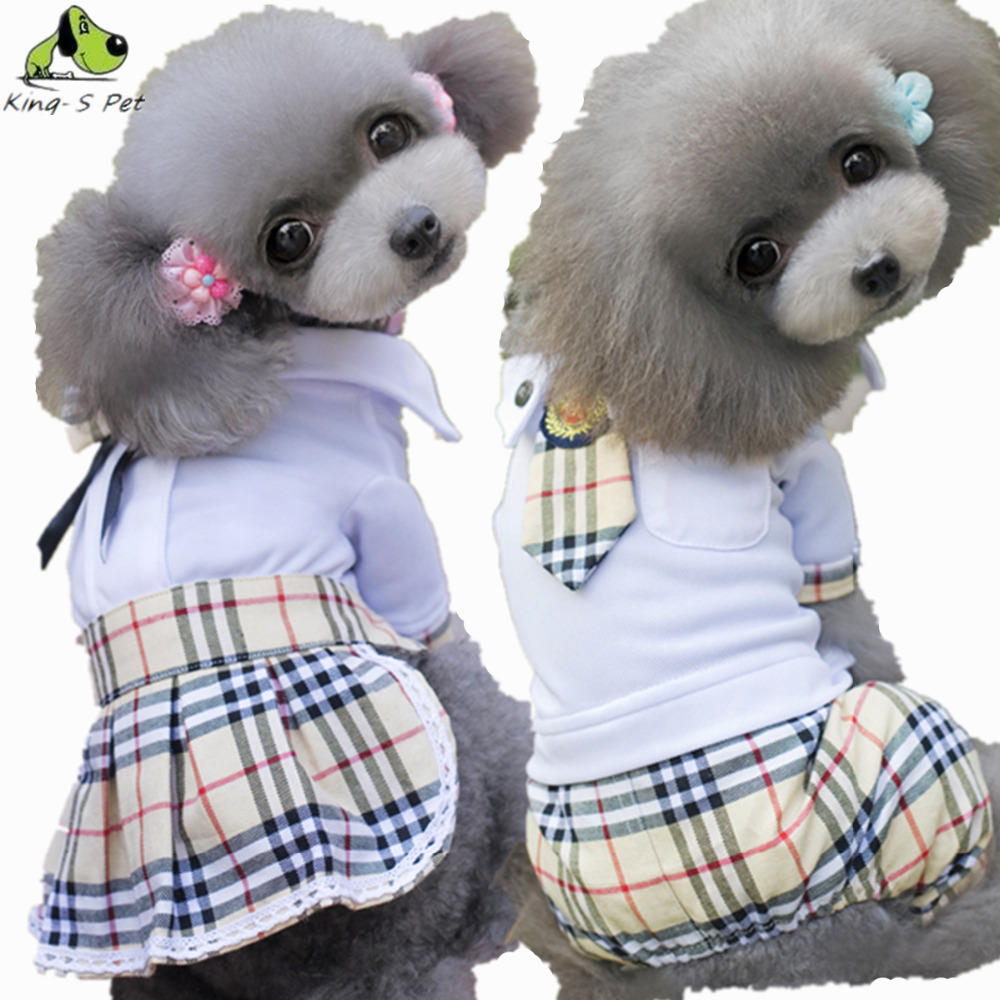 Fashion Cotton Pet Dog Plaid Costume All Seasons Coat Jacket Down Cute Small Cat Four Leg Jumpsuit Clothing For Dogs Hot Selling(China (Mainland))