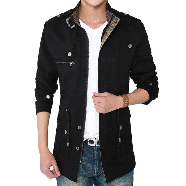 Личность дизайн мода мужчины плащ 2015 новых осень весна одежда хлопка человека куртка ...