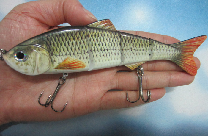 Big Size 152mm 36g Lifelike Multi-jointed Bass Pike Fishing Lure Crank Bait Swimbait Shad Minnow Fish Hook Tackle - discover fun store