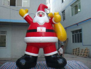 Factory sale 6m giant inflatable Christmas santa claus for Christmas decoration(China (Mainland))