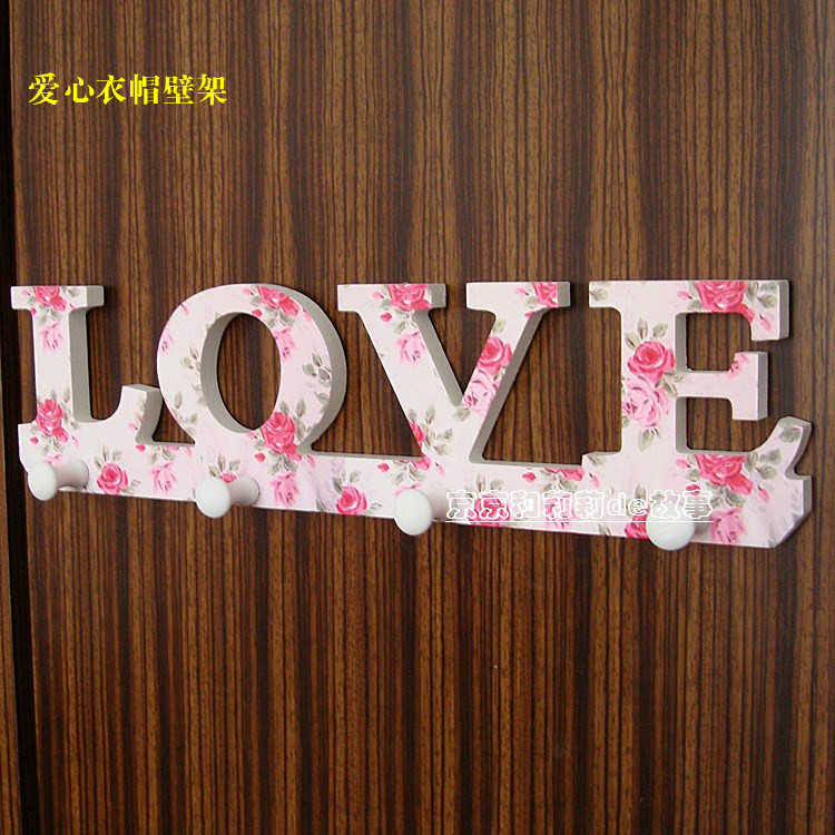 love korean garden wall coat rack towel racks decorative wall hook after the wooden door frame. Black Bedroom Furniture Sets. Home Design Ideas