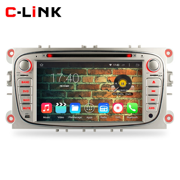 Silver Panel Quad Core 1.6GHz 1024*600 Android 4.4 Car DVD Video Player GPS For Ford Focus Mondeo S-Max WIFI TV Bluetooth Radio(China (Mainland))