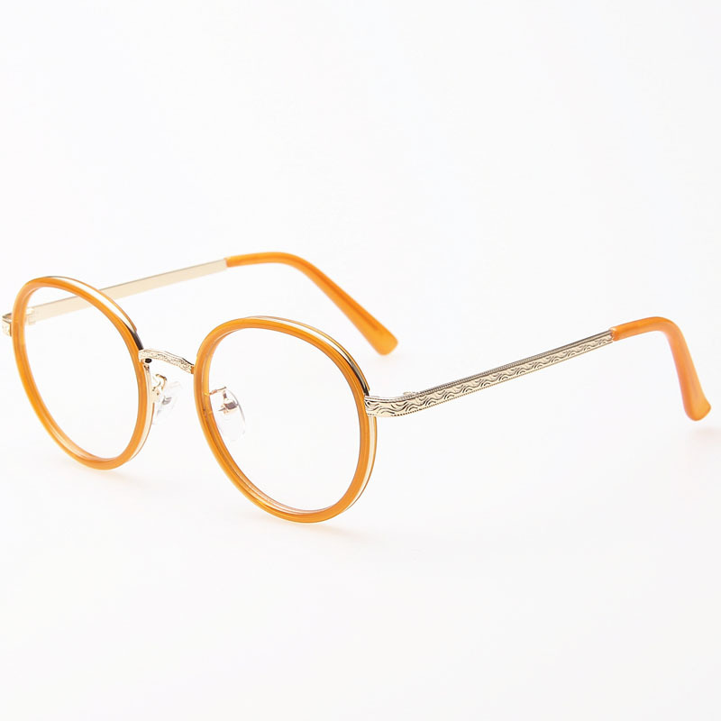 Reading Glasses Frames For Round Faces : 2015 Women New Korea retro round glasses frames eye ...