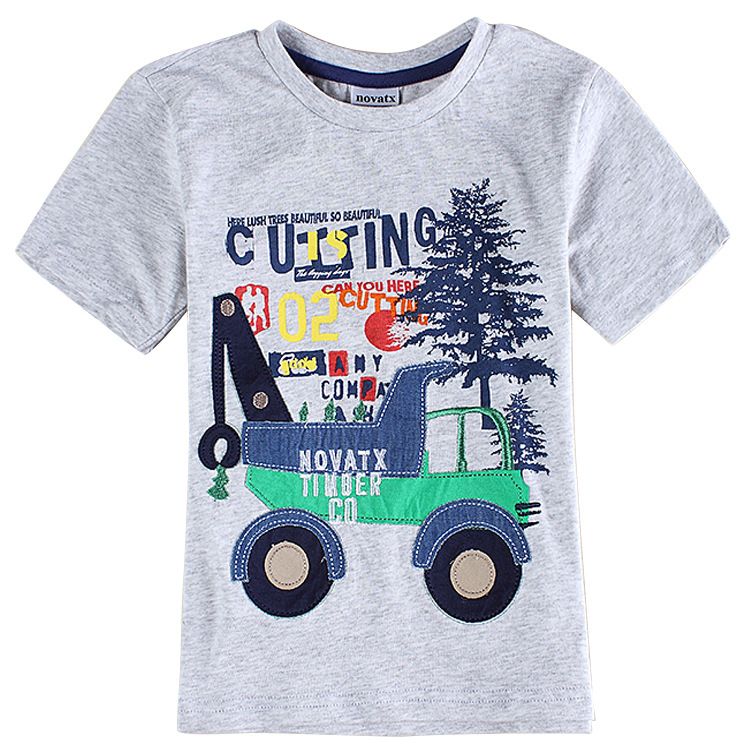 Gray Boys Clothes 3d Printed Kids T Shirt Boys Children T