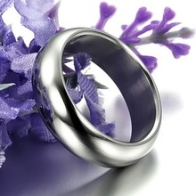 Fashion Jewelry Brief White Glossy Male Men Titanium Rings