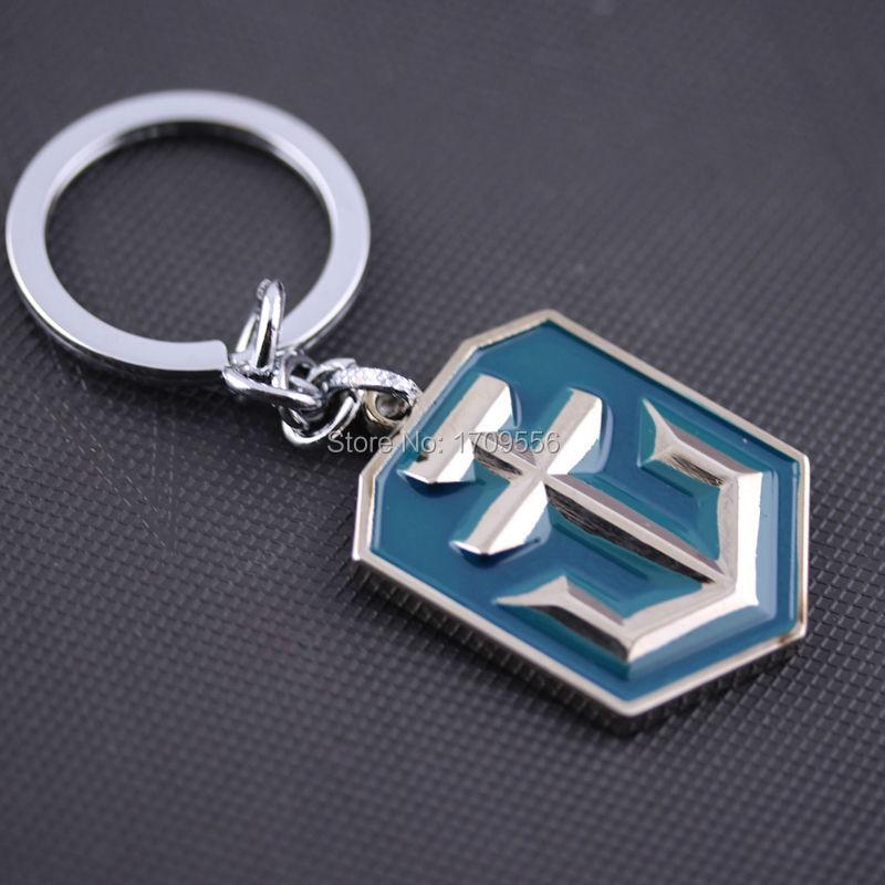 Game Series Keychain Popular World of Warships Game Logo Metal Keyring(China (Mainland))