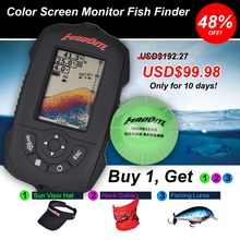 MadBite Waterproof Portable Fish Finder 45M Depth Sonar Sounder Alarm Transducer Fishfinder 120M Wireless Reception fishfinder(United States)