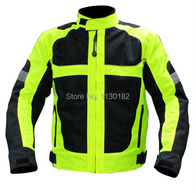 Motorcycle jacket motocross moto jacket M L XL XXL XXLblack green protection jaqueta motorbike jacket motos motociclismo motor(China (Mainland))