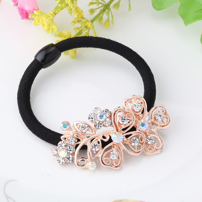Wholesale New Korean Original Rubber Band Hair Accessories Girl Rhinestone Pearl Hair Rope Ponytail Holder Elastic Bungees Band(China (Mainland))