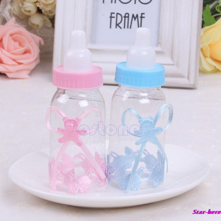 10Pcs/Lot Baby Candy Box Bottle Shower Baptism Party Birthday Favor Christening Gift New Free Shipping(China (Mainland))