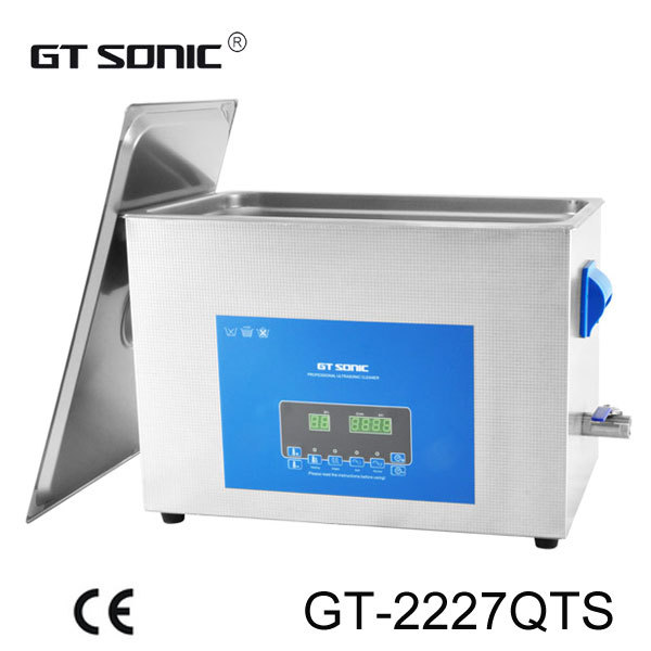 GT SONIC Stainless steel chemical and industry use ultrasonic cleaner 27L with dual power and frequency GT-2227QTS(China (Mainland))