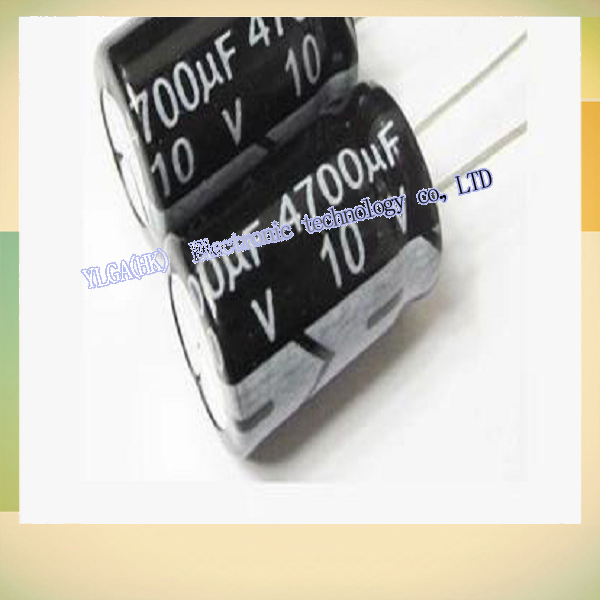 New Original Electrolytic capacitor 10V 4700UF capacitor electronic components digital accessoriesFree shipping(China (Mainland))