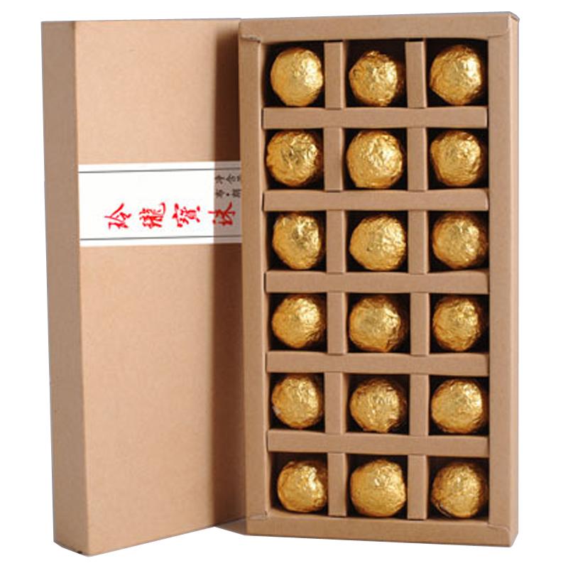 12pcs box Golden and Sliver Choosen Hot Sale Black Tea Flavor Pu er Chinese Mini Yunnan