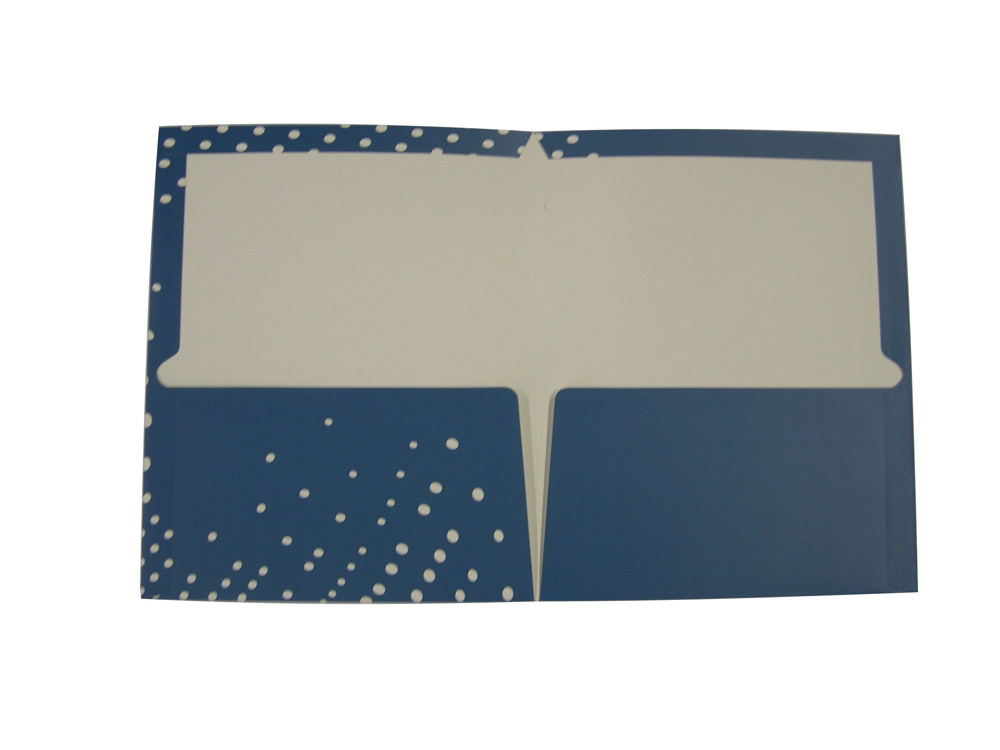 OEM&Customized Products Two Pocket Presentation Folders printing service with business cards(China (Mainland))